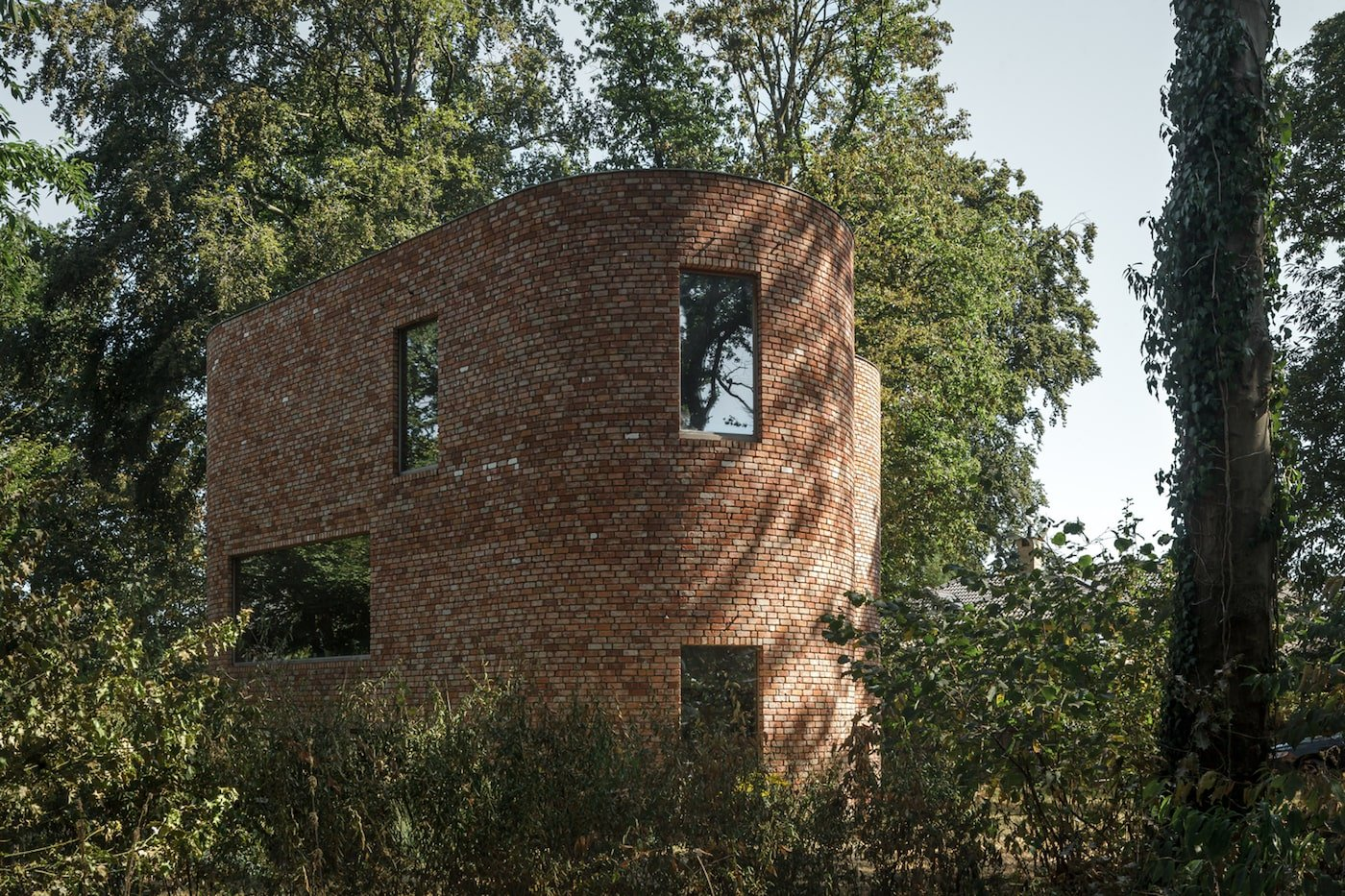 Recycled brick house