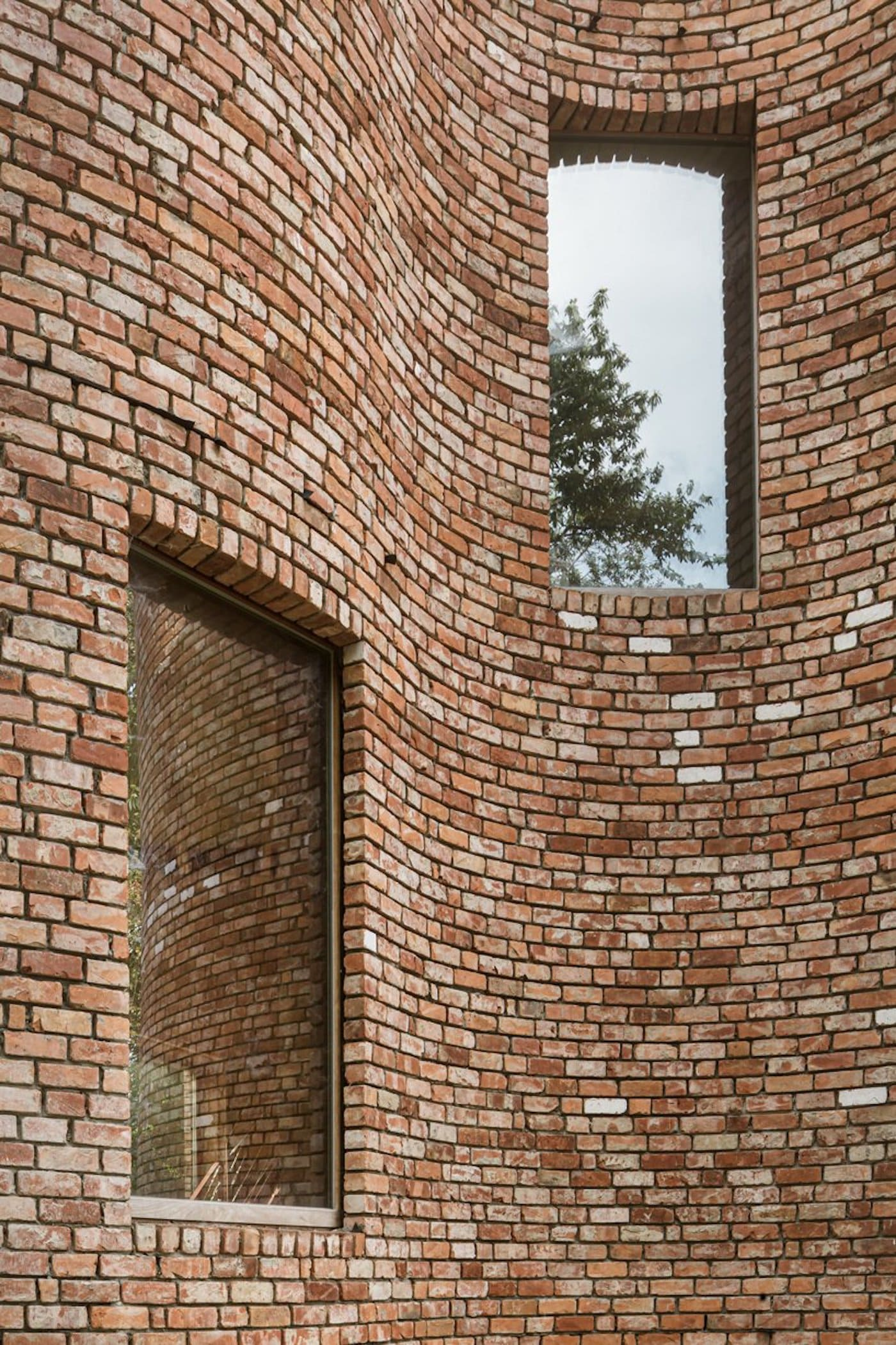Close up of recycled bricks