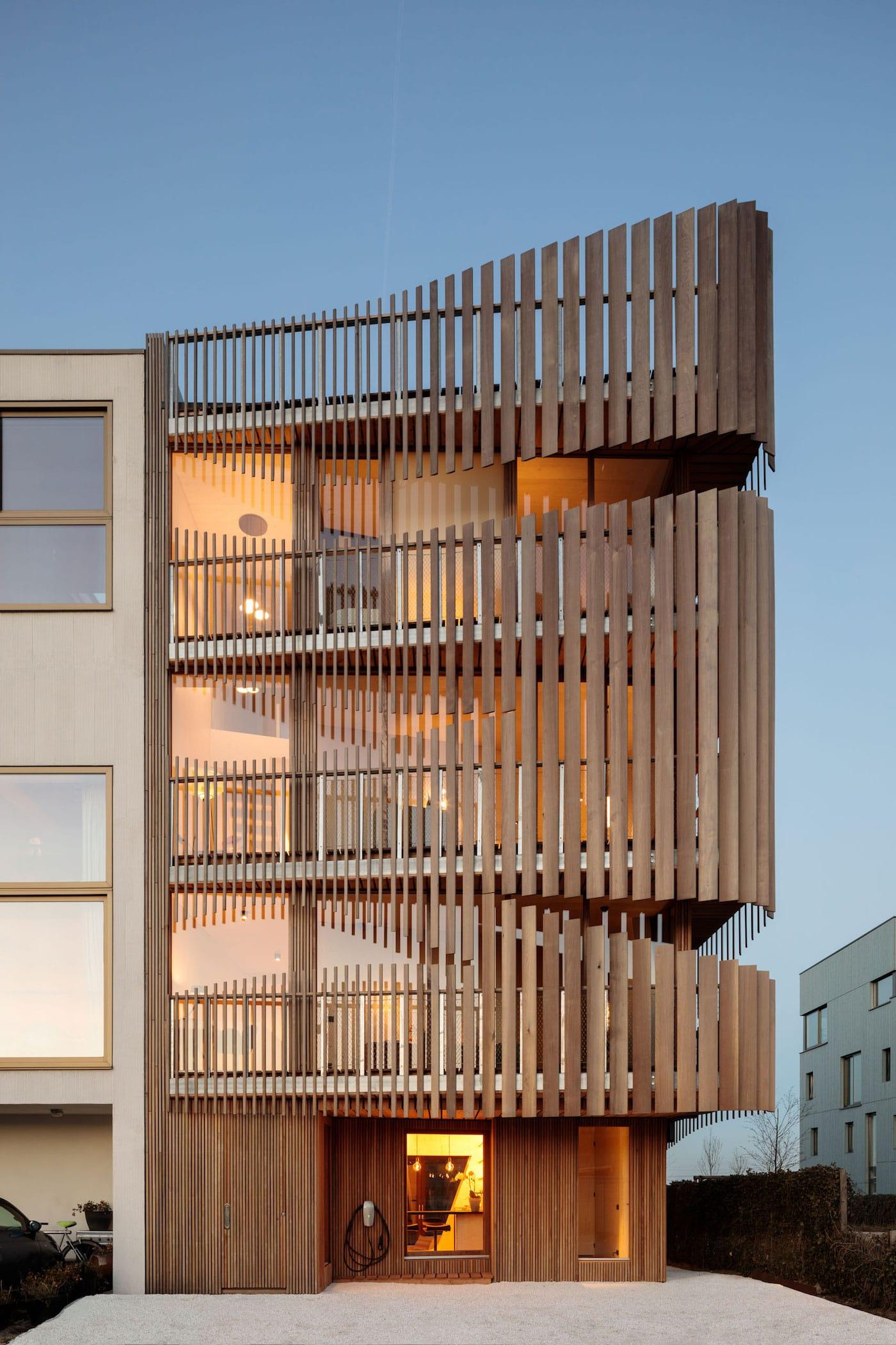 Timber screen building exterior