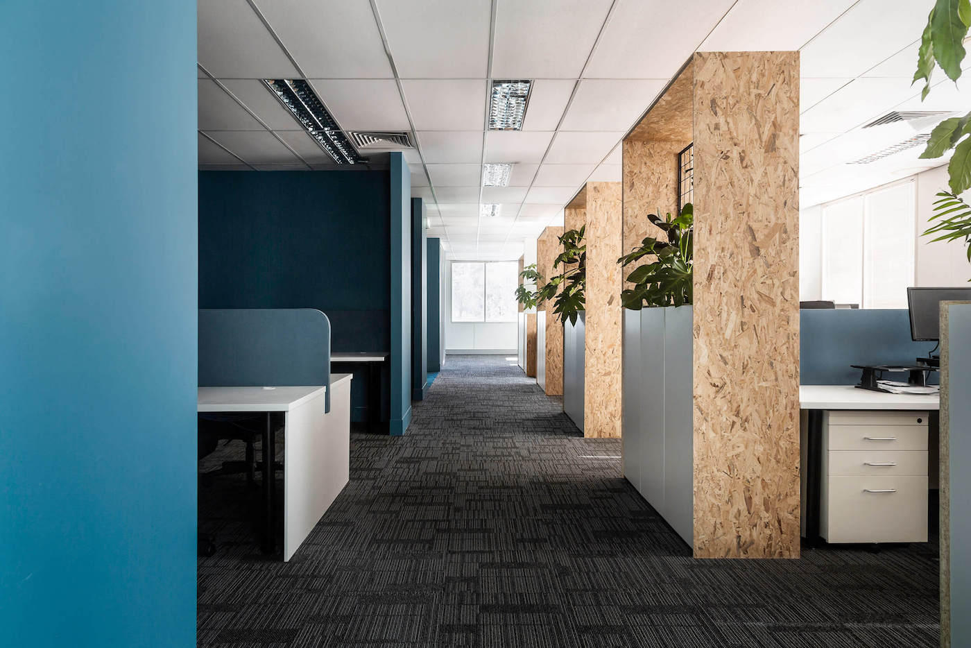 Workstations and OSB planter screen