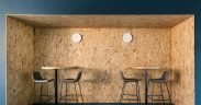 OSB lining casual meeting space