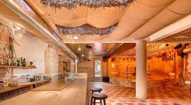 Adaptive reuse cafe interior