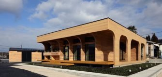 CLT cross laminated timber building