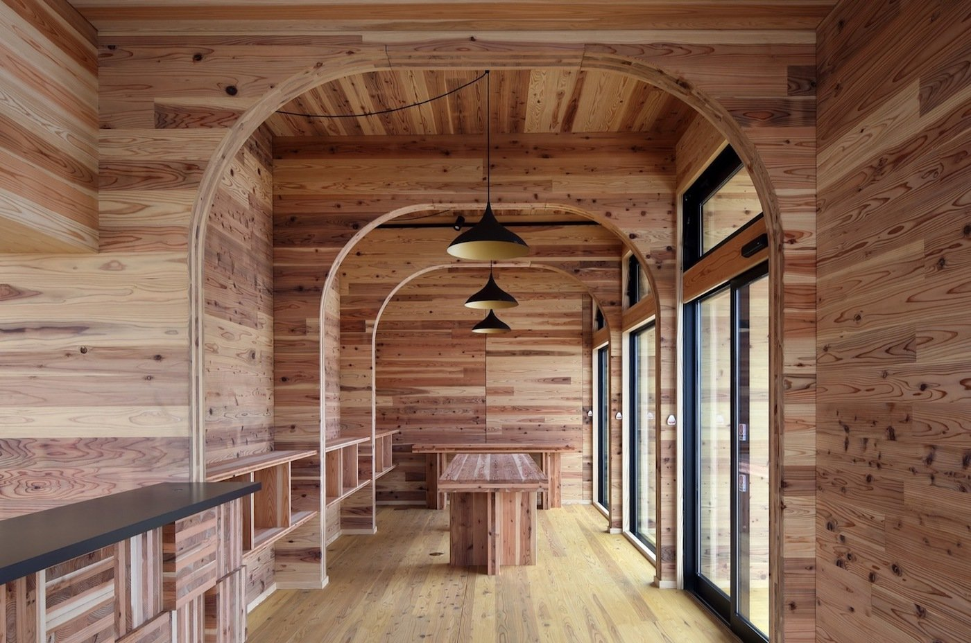 All timber office interior