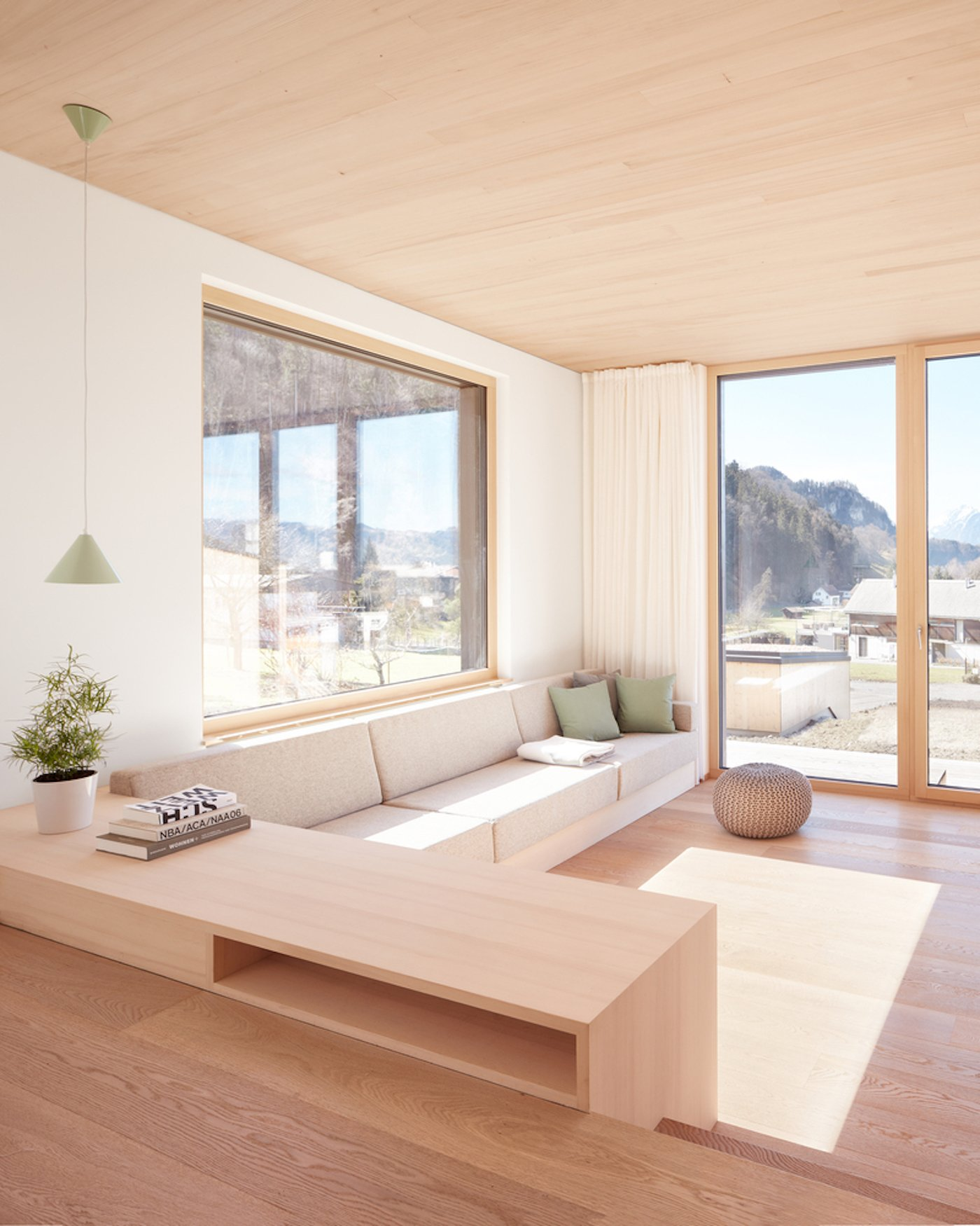 Lounge room with timber flooring