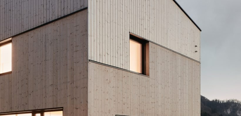 Timber clad home external view