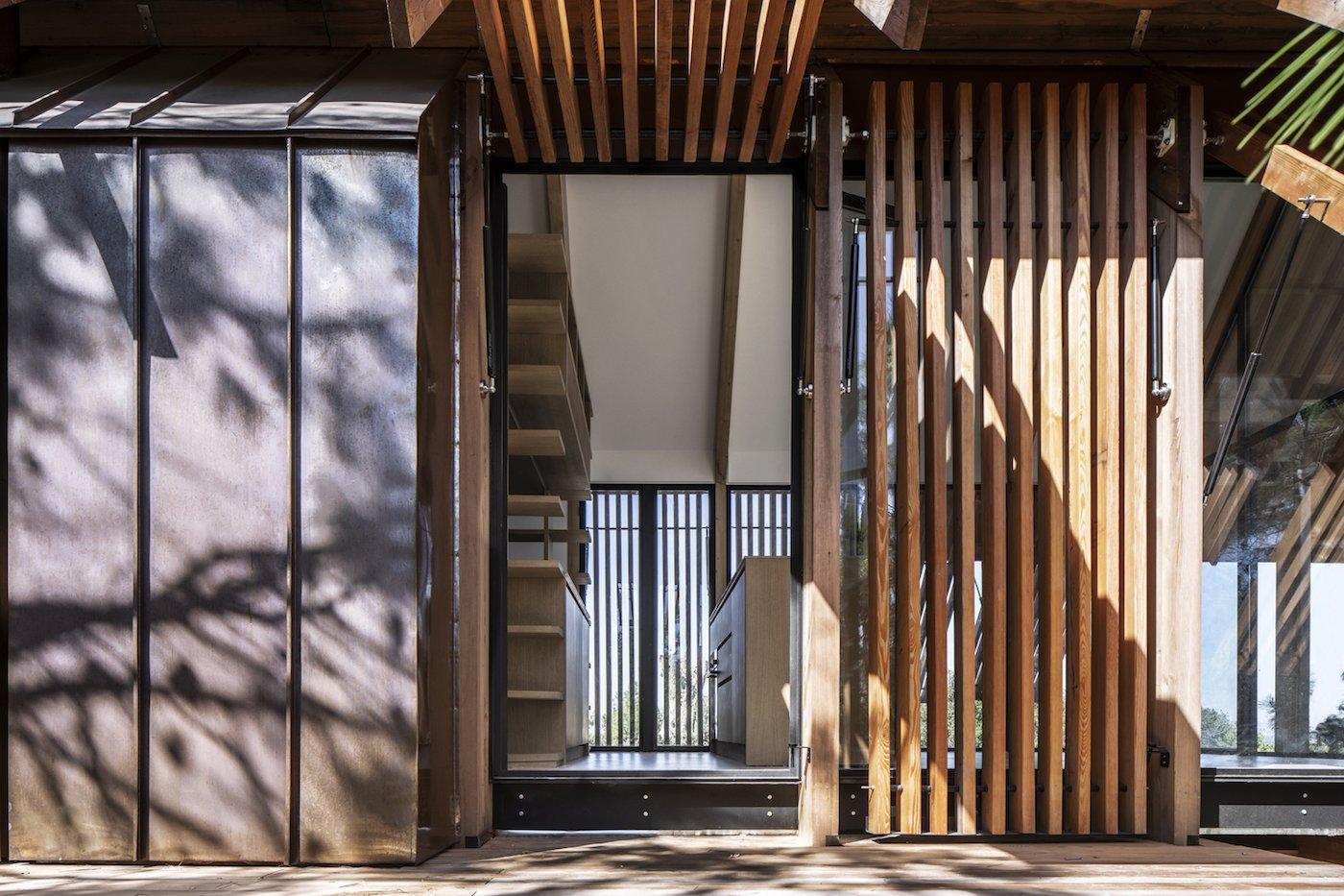 View of timber door