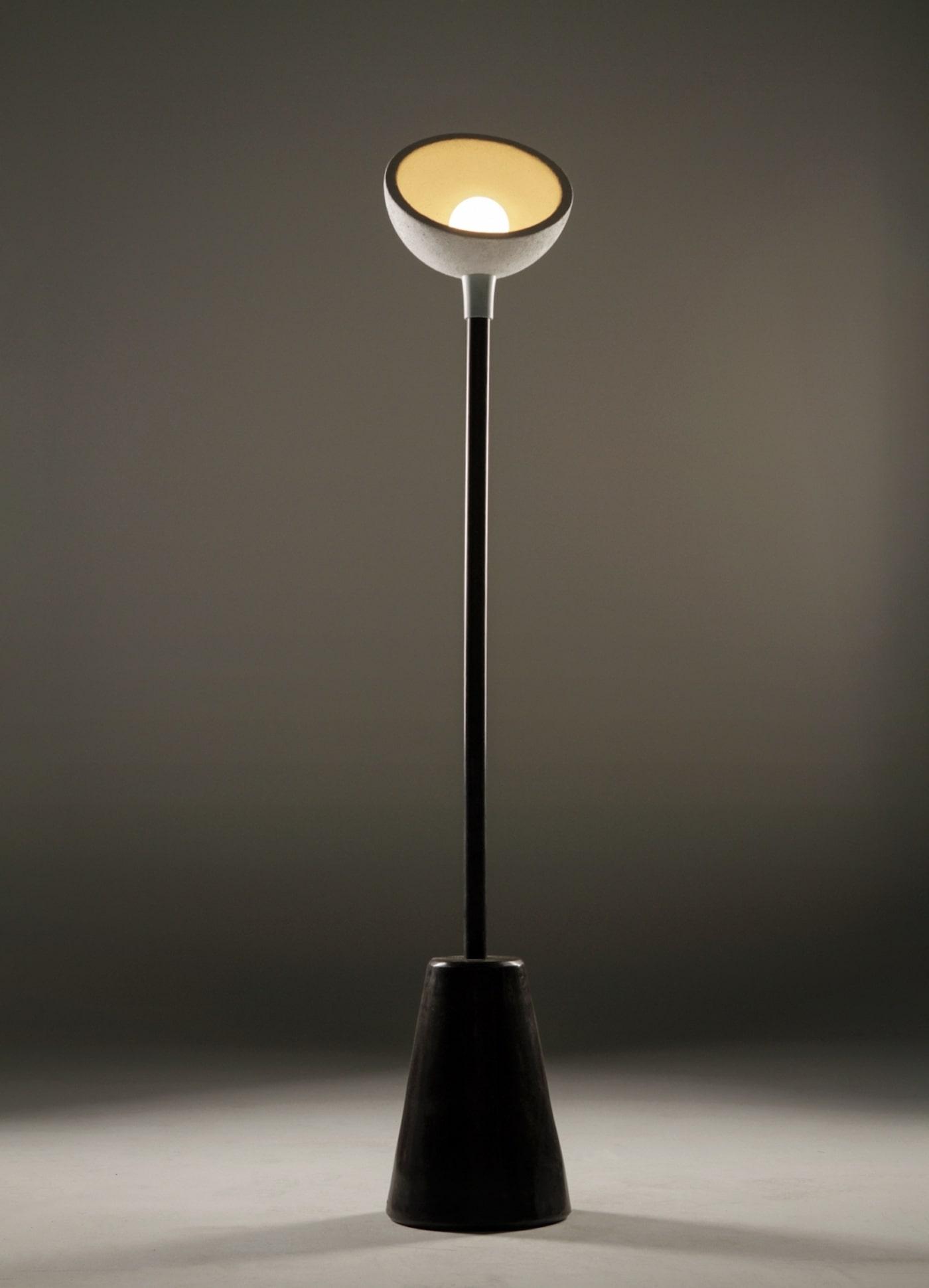 Biobased floor lamp coffee grounds