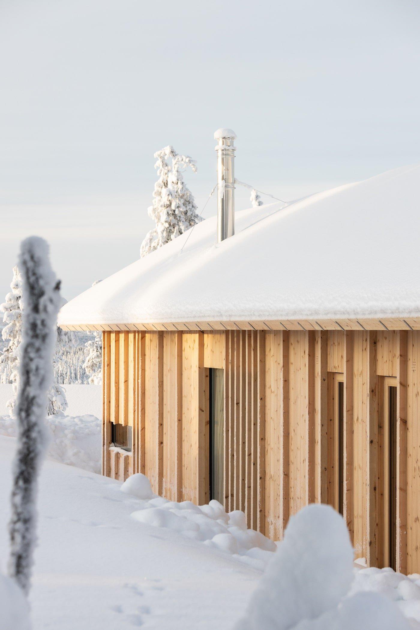 Exterior timber clad Kvitfjell Cabin