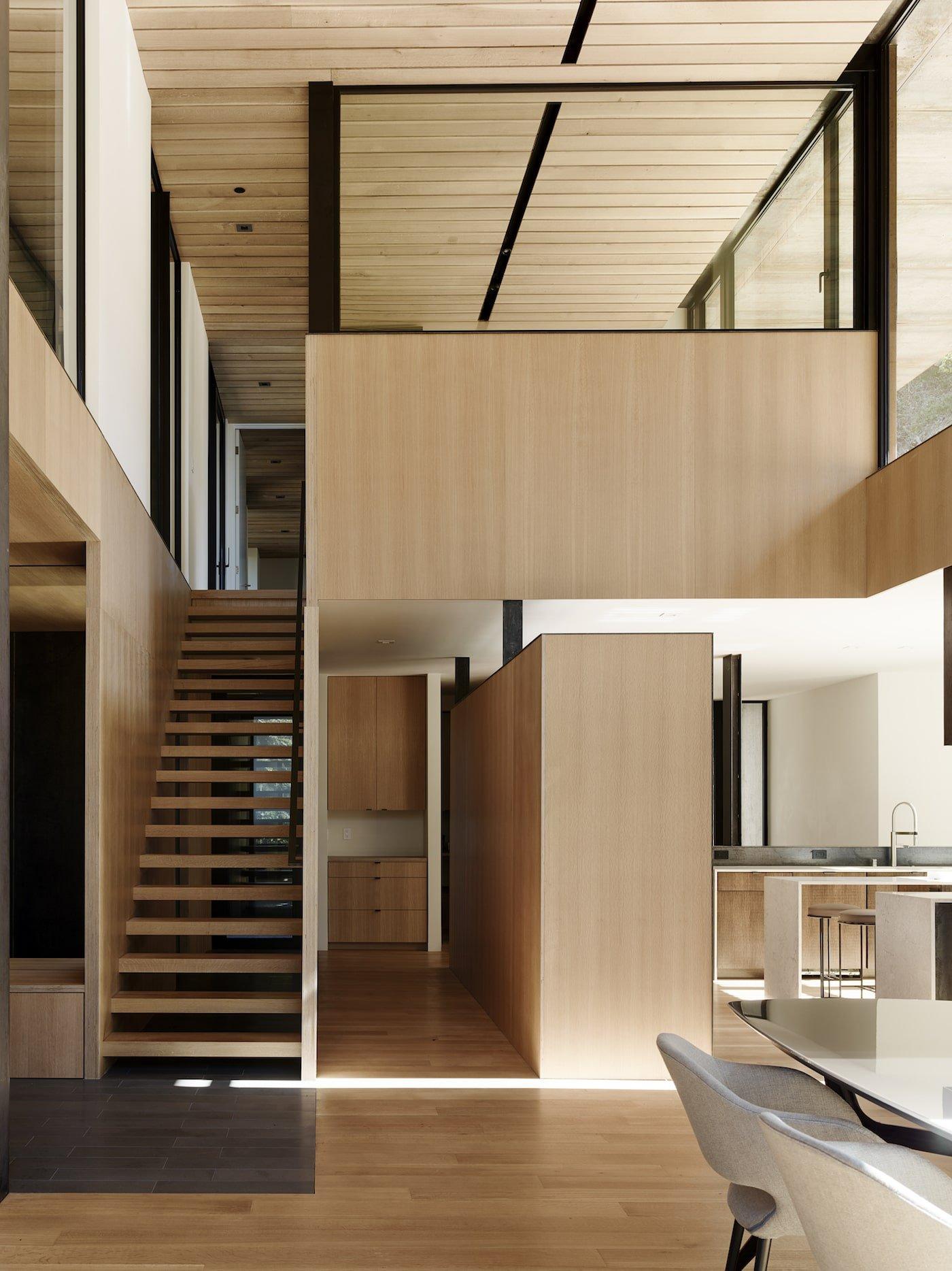 Timber interior of net-zero home