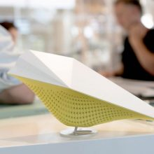 AirBird indoor air quality sensor on desk