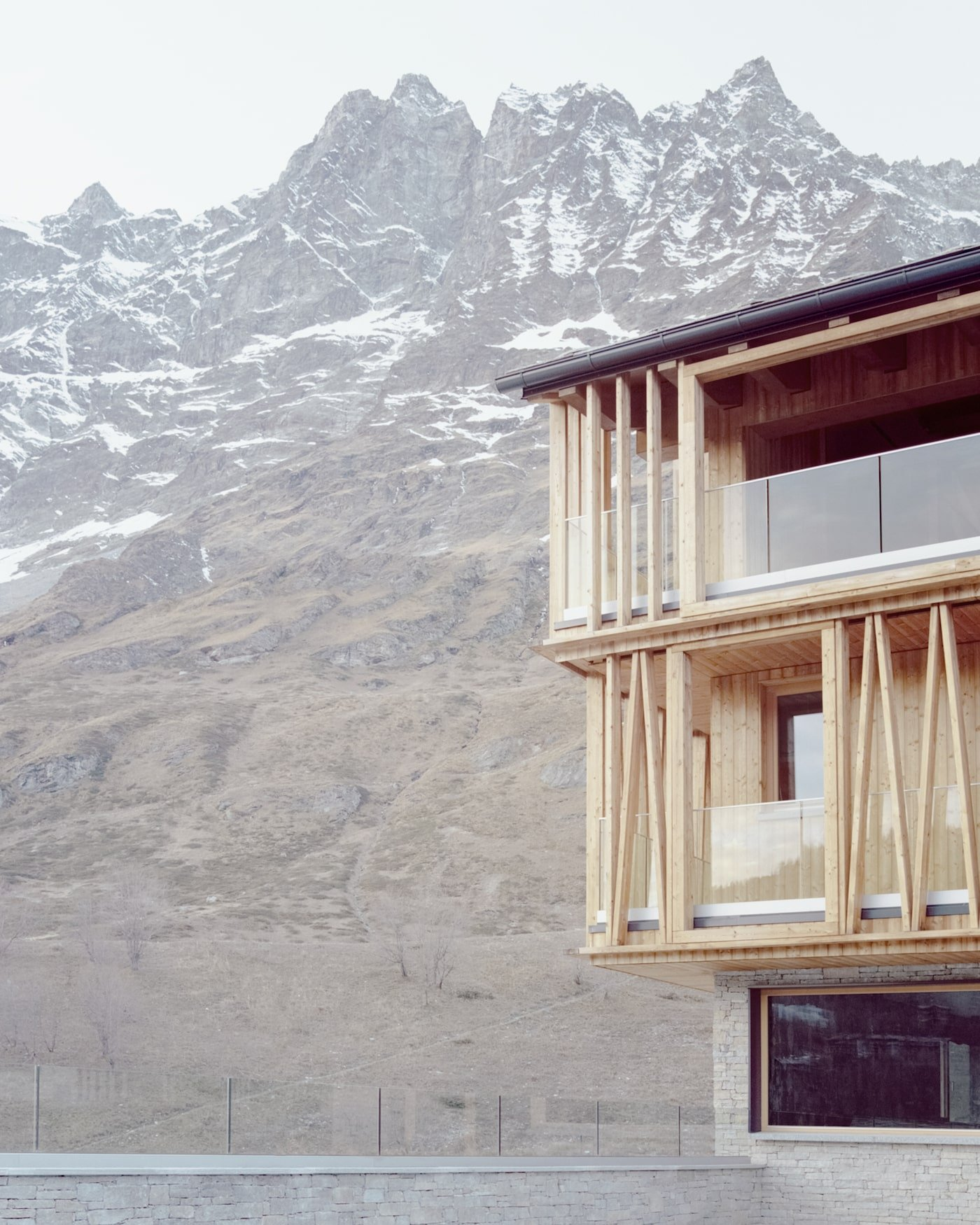 Sustainably sourced timber brise soleil