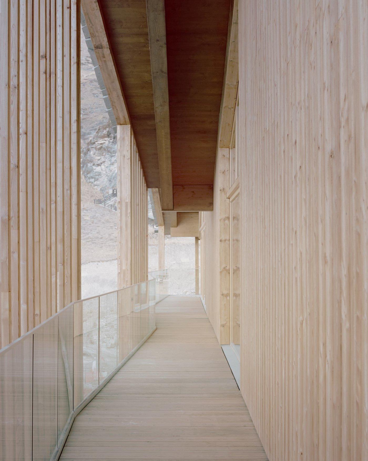 Timber balcony with triple glazed windows