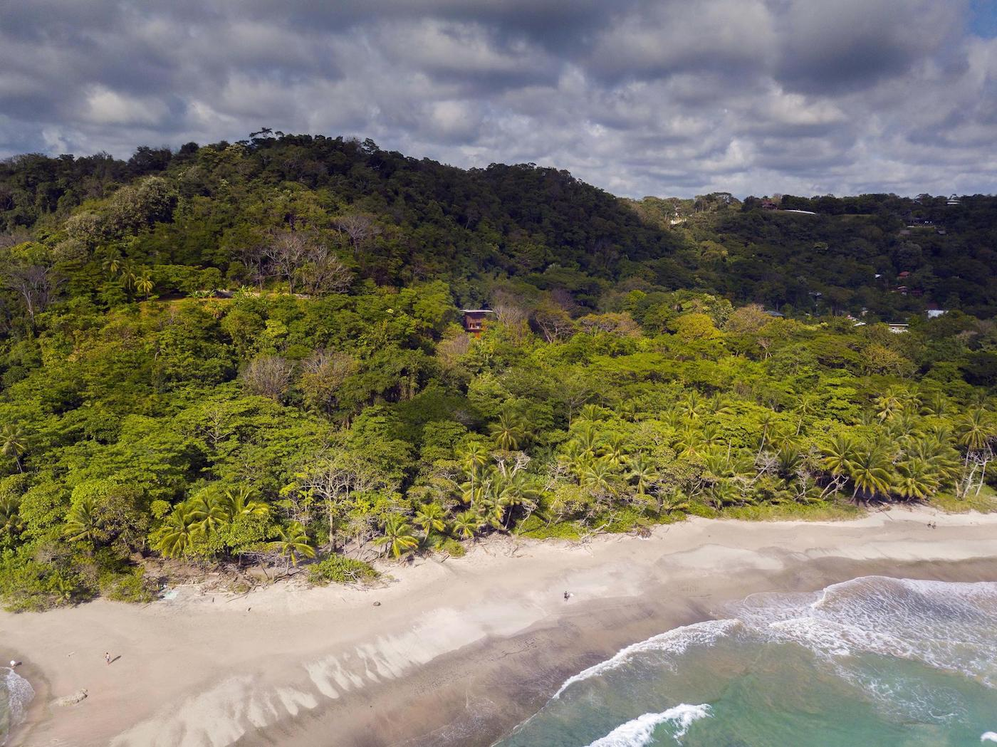 District views of Costa Rica Treehouse surrounded by jungle and beach