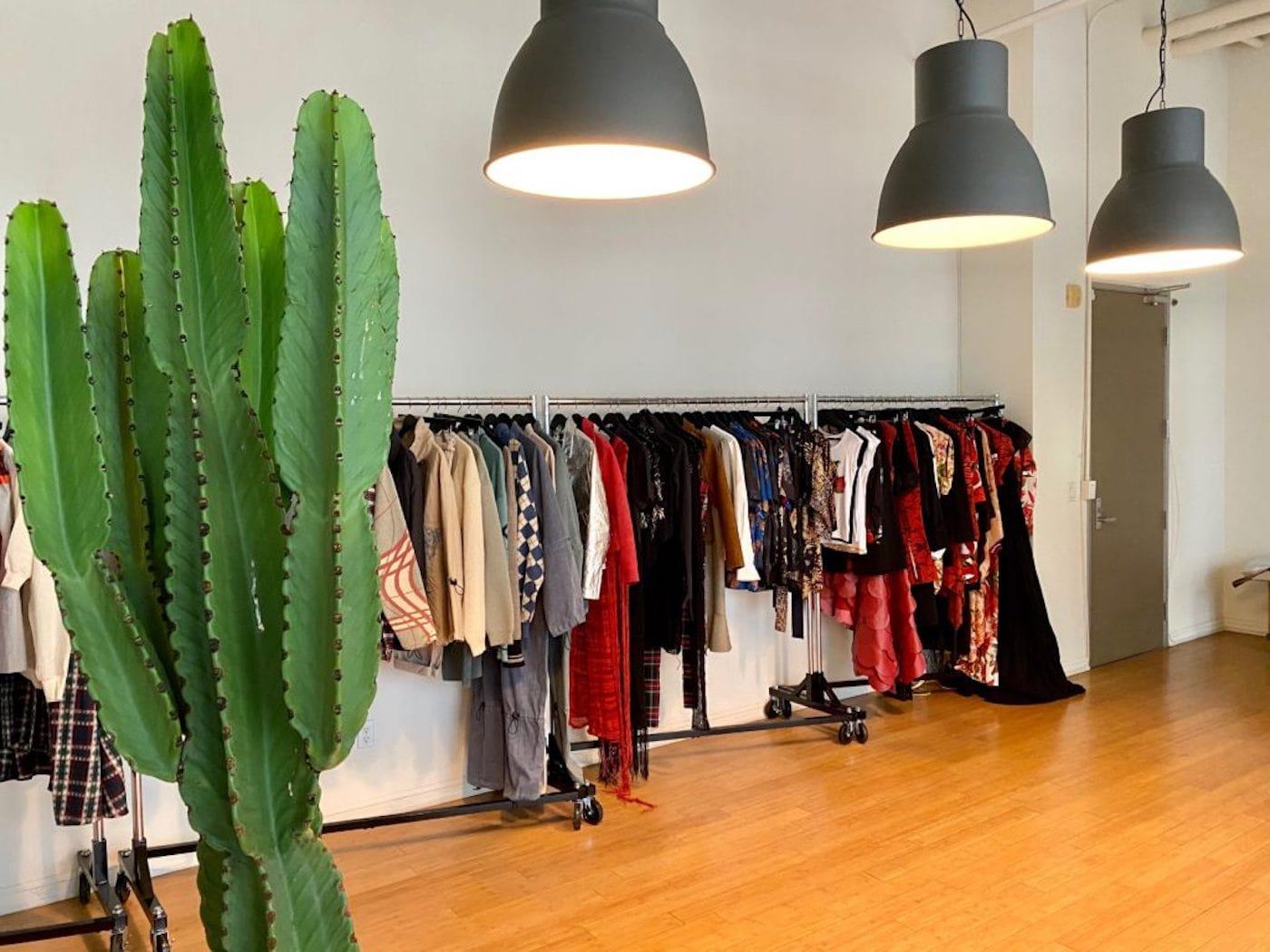 Vegan Fashion Library showroom