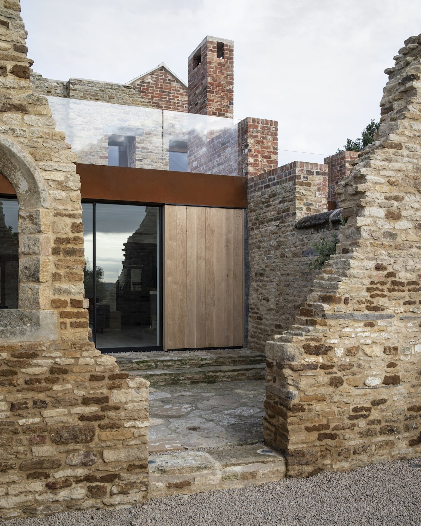 Adaptive reuse renovation with recycled bricks
