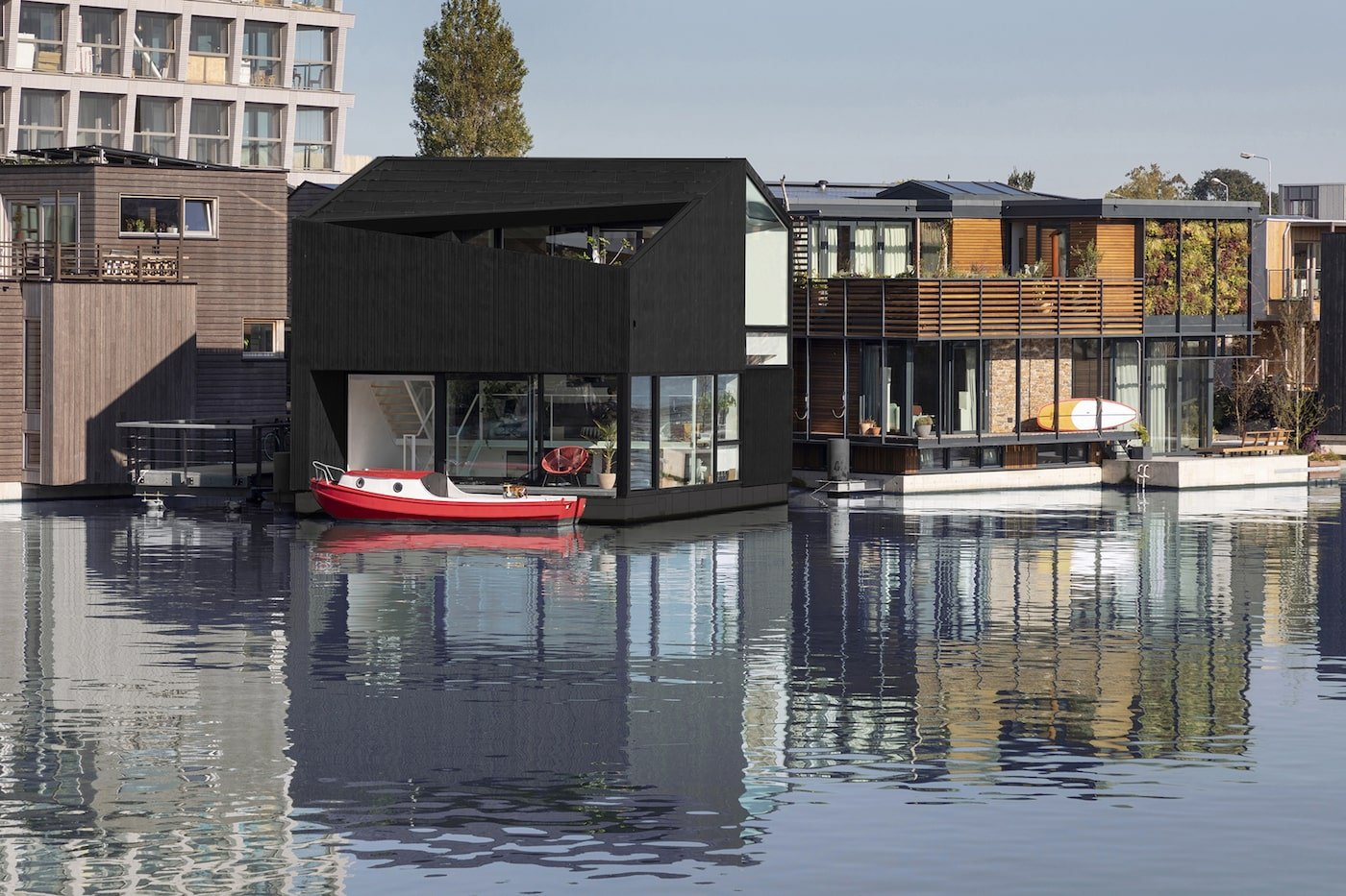 Floating home in floating community