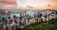 Florian Wehde Hong Kong skyline view from Victoria Peak Unsplash