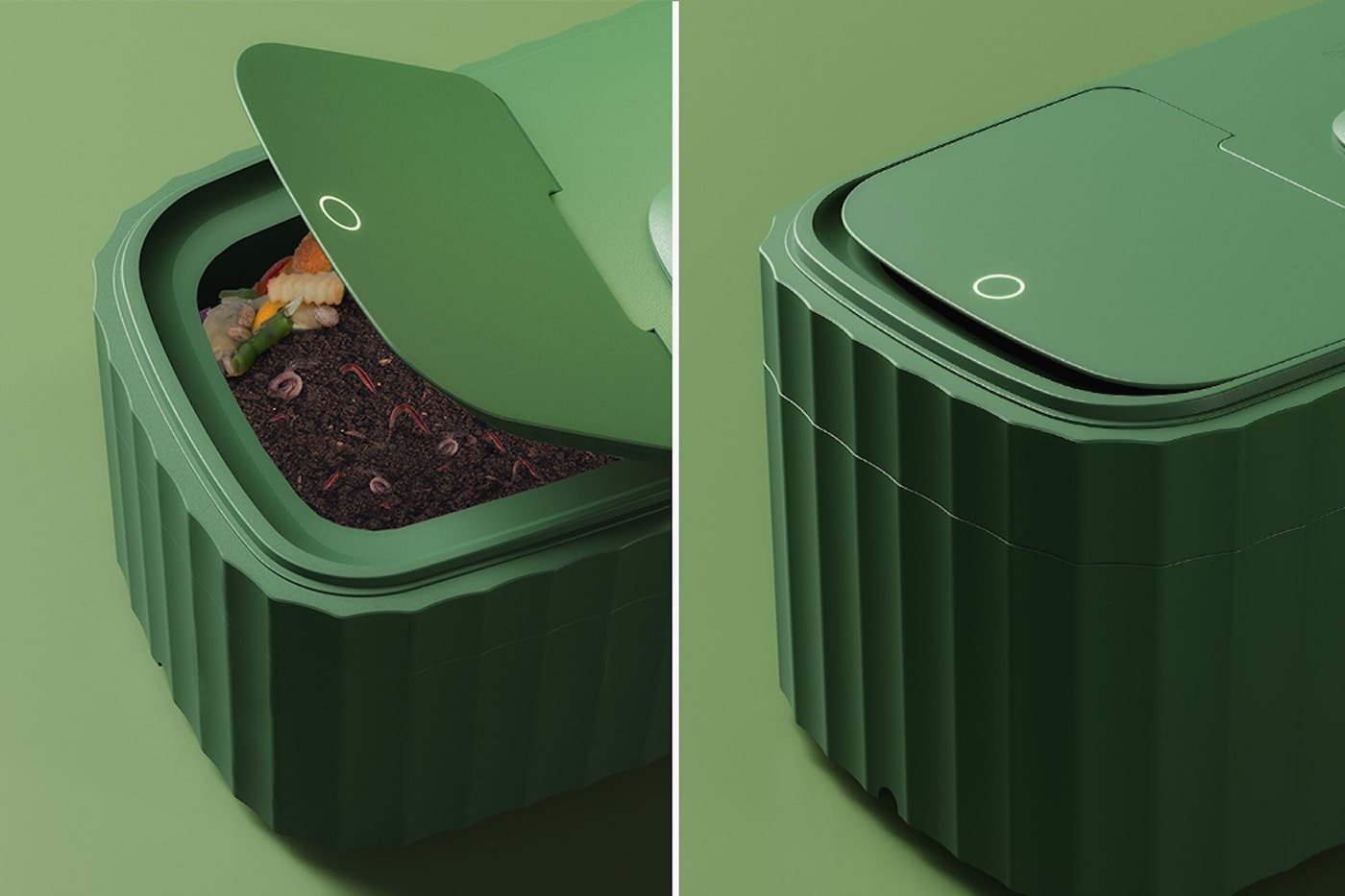 Green compost unit on bench top