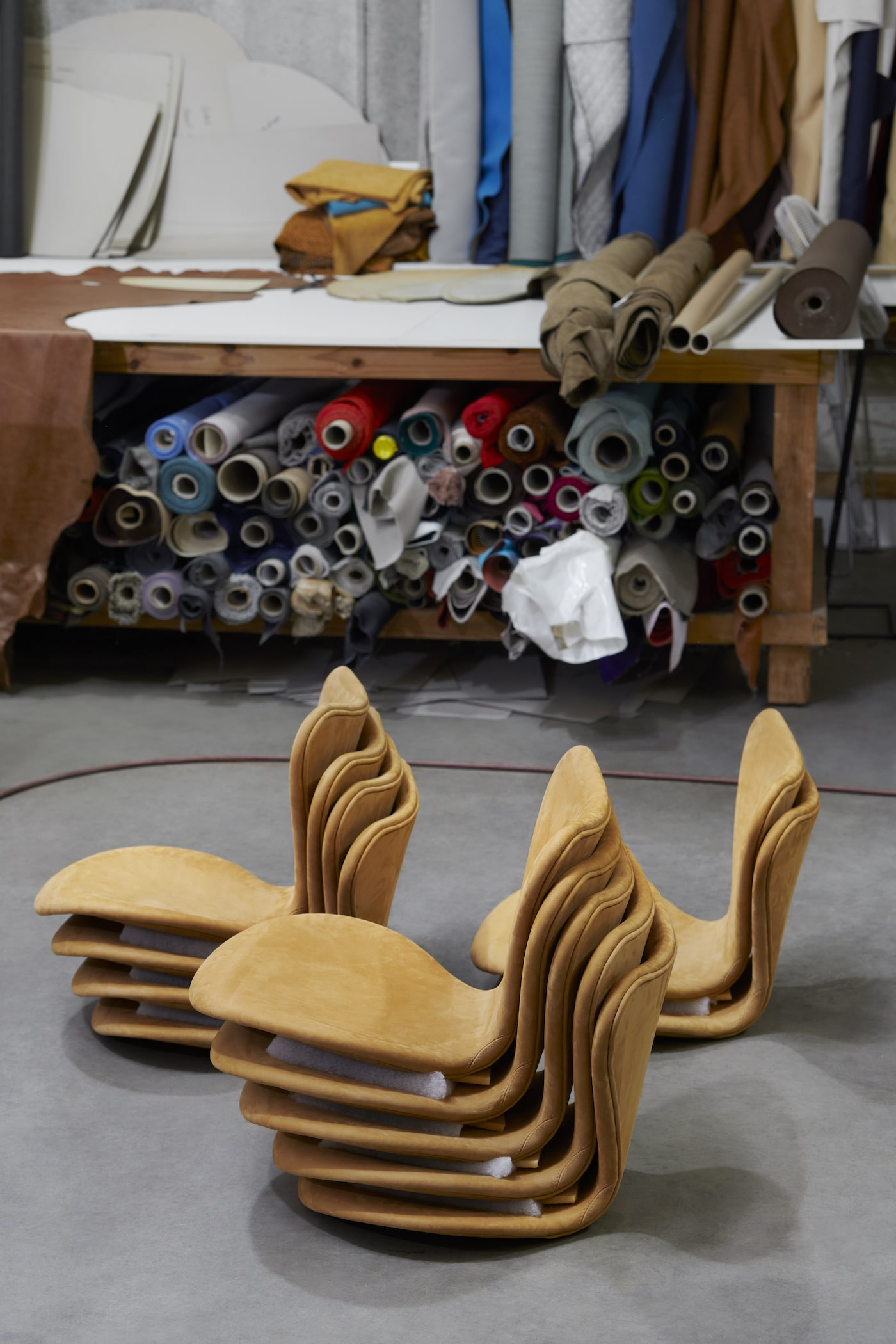 Arne Jacobsen Series 7 chairs ready for restoration