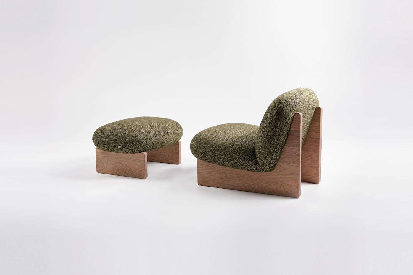 Jardan Ziggy range armchair and ottoman sustainable furniture