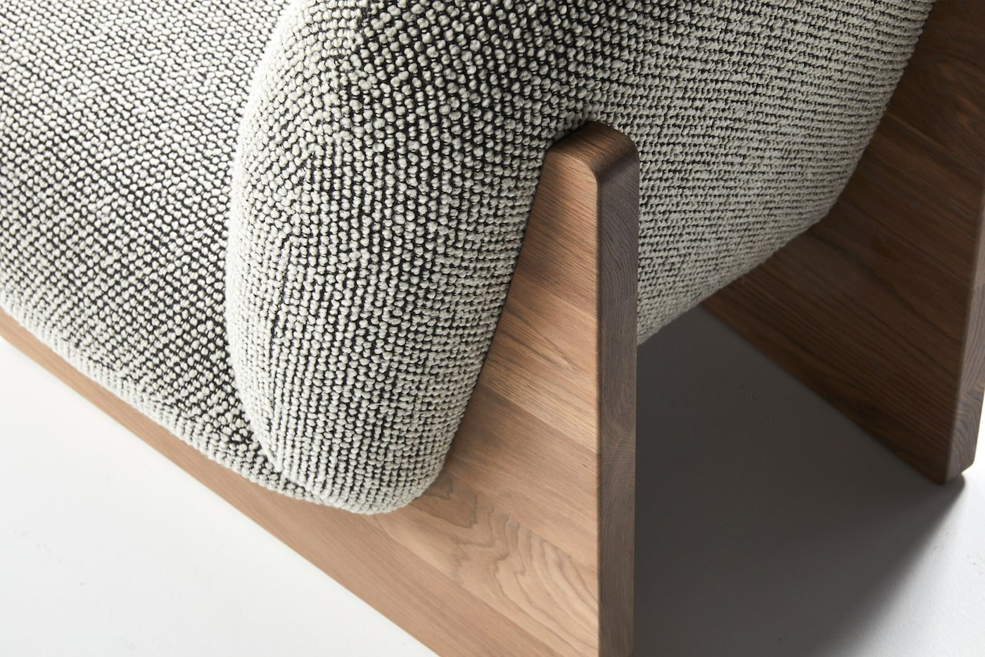 Ziggy armchair detail showing sustainable timber legs