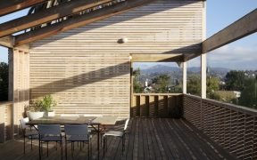 Timber deck and timber wall