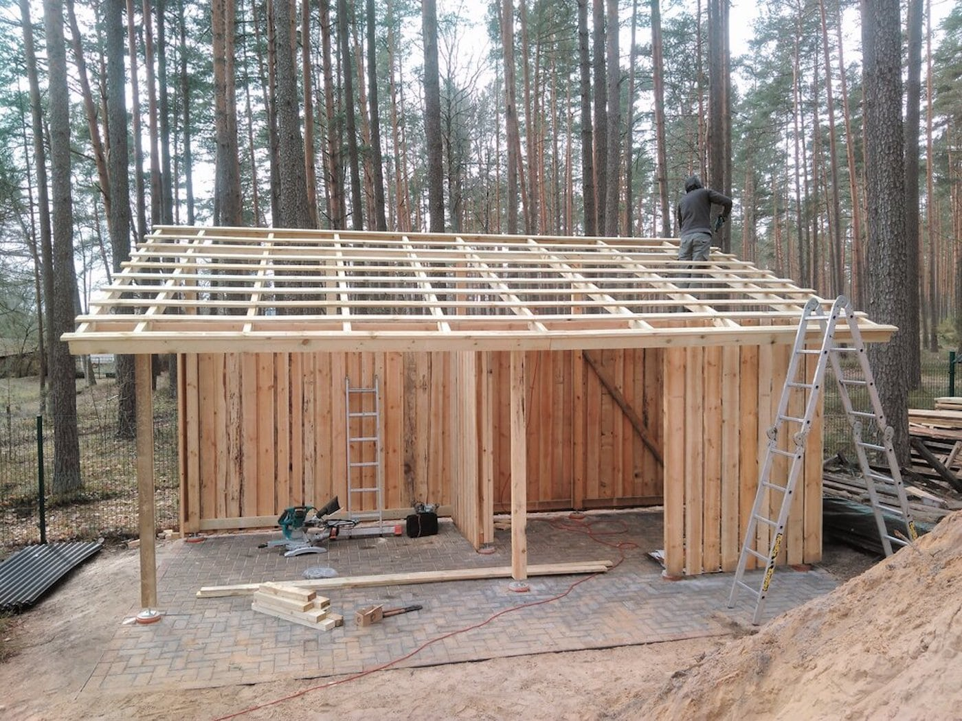 Construction of timber shed