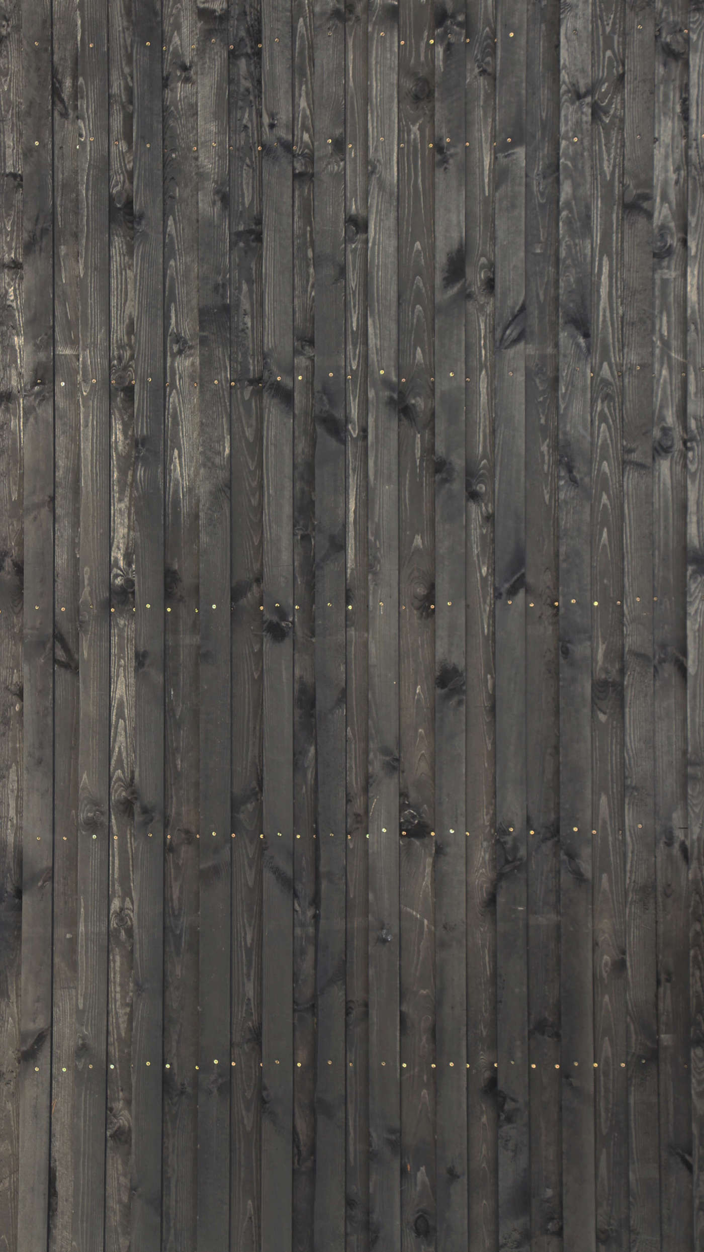 Close up of blackened timber cladding