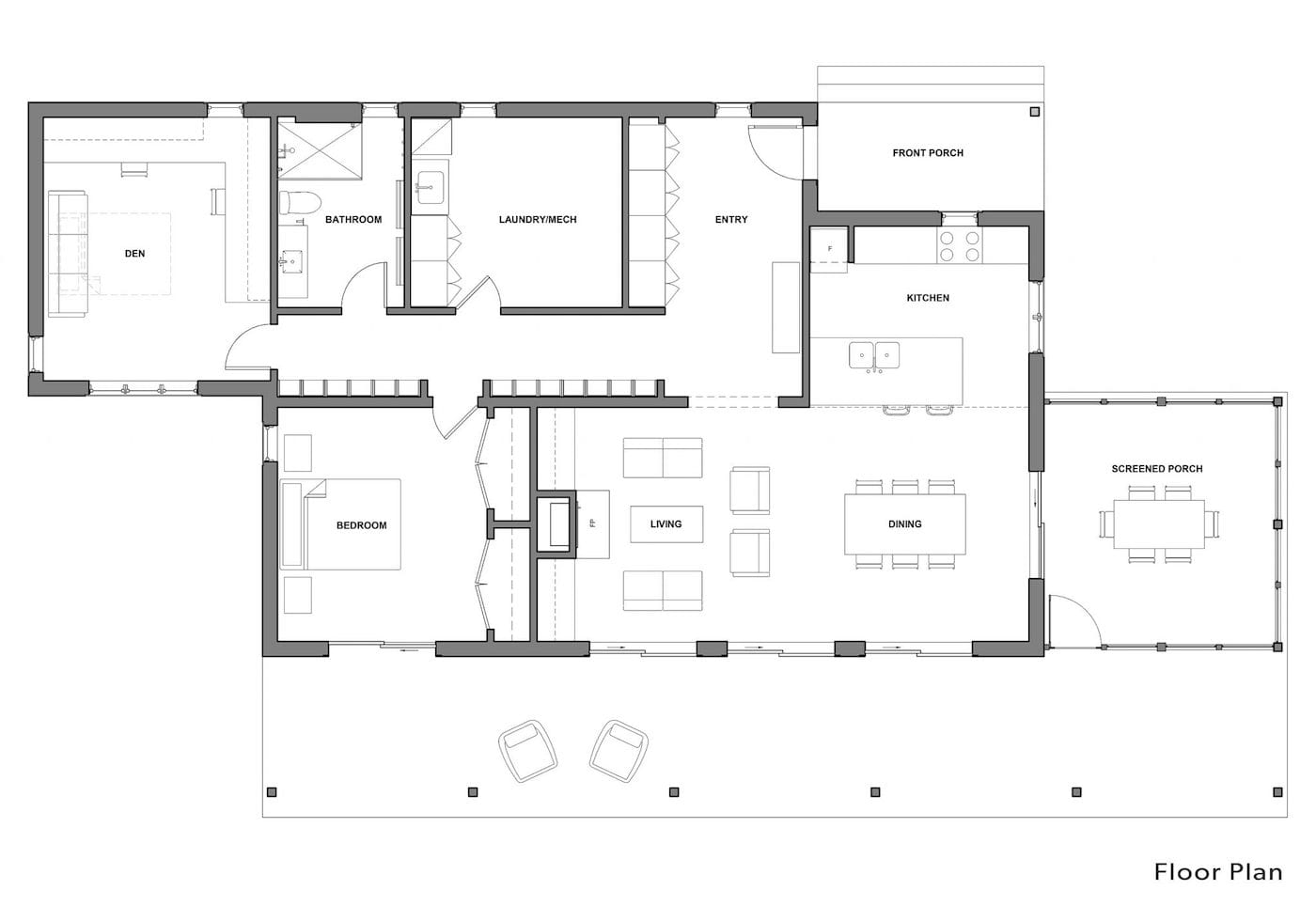 Solares Architecture Manitoulin Island off-grid house Floor-plan