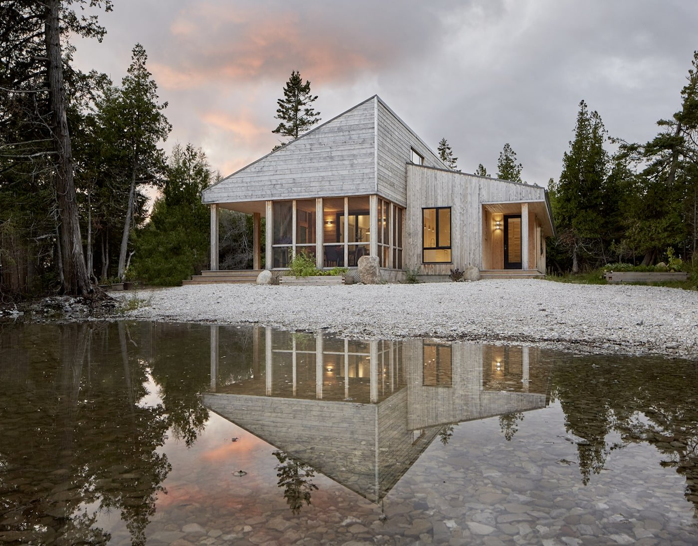 Exterior of off-grid house on Manitoulin Island
