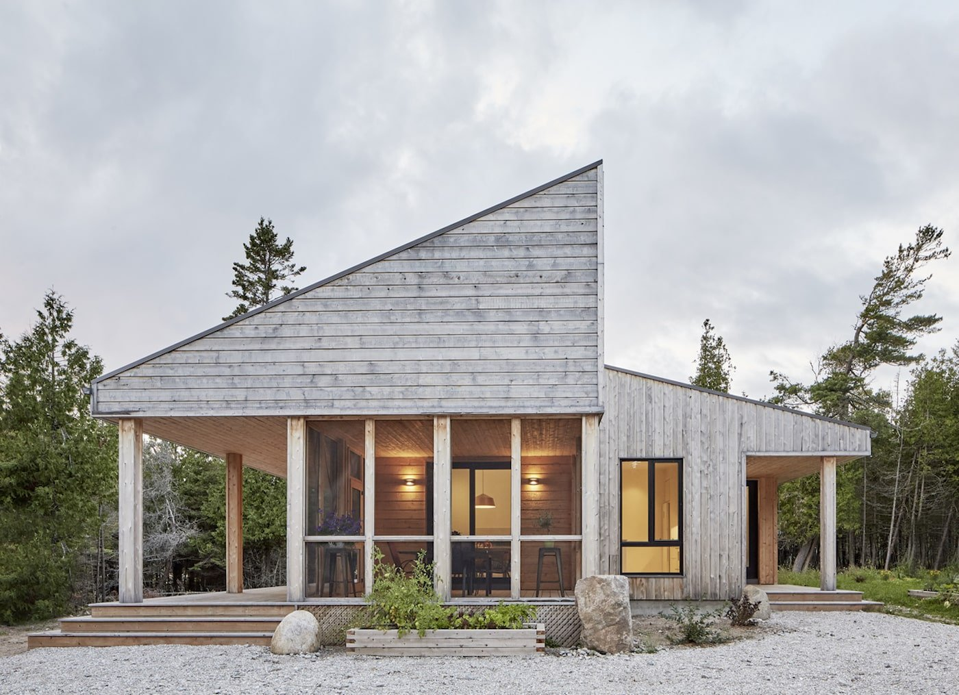 Manitoulin Island off-grid house with timber facade