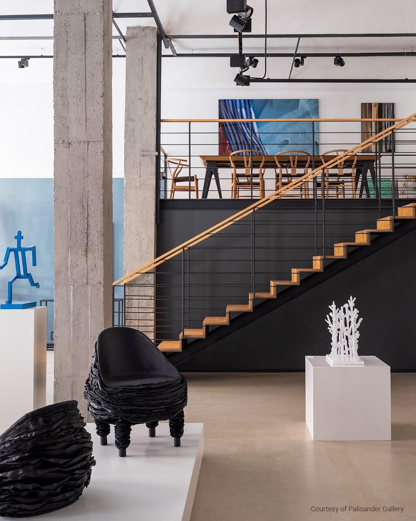 Vadim Kibardin paper chair in exhibition