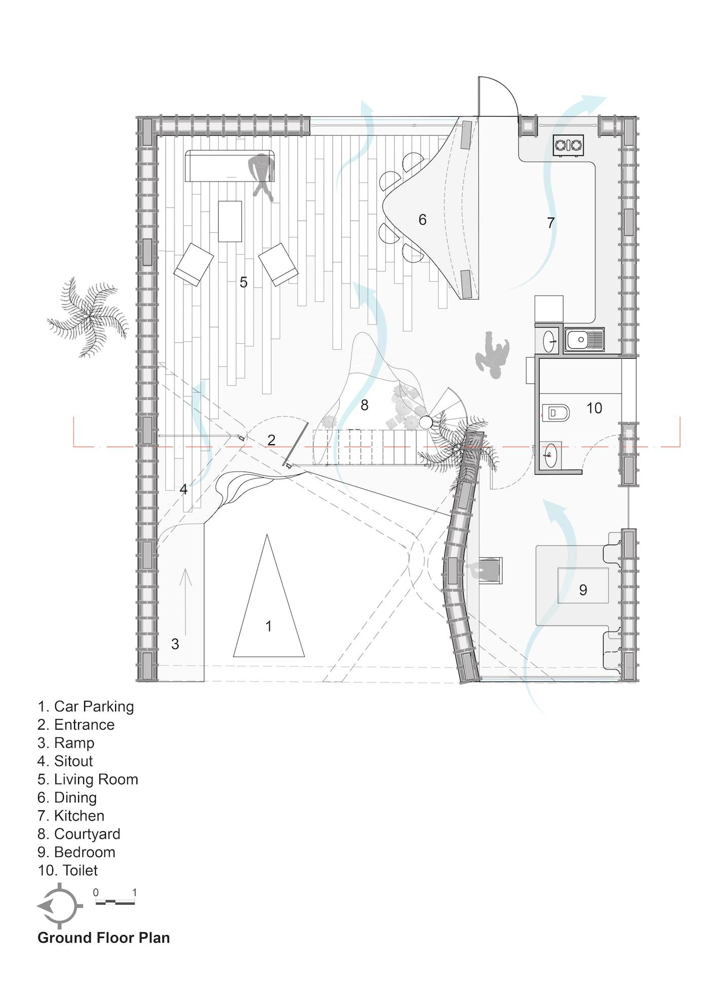 Wallmakers Pirouette House ground floor plan