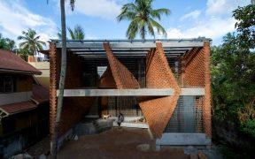 Brick facade of Pirouette House
