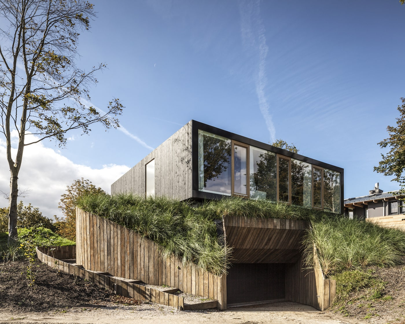 Exterior of timber clad home