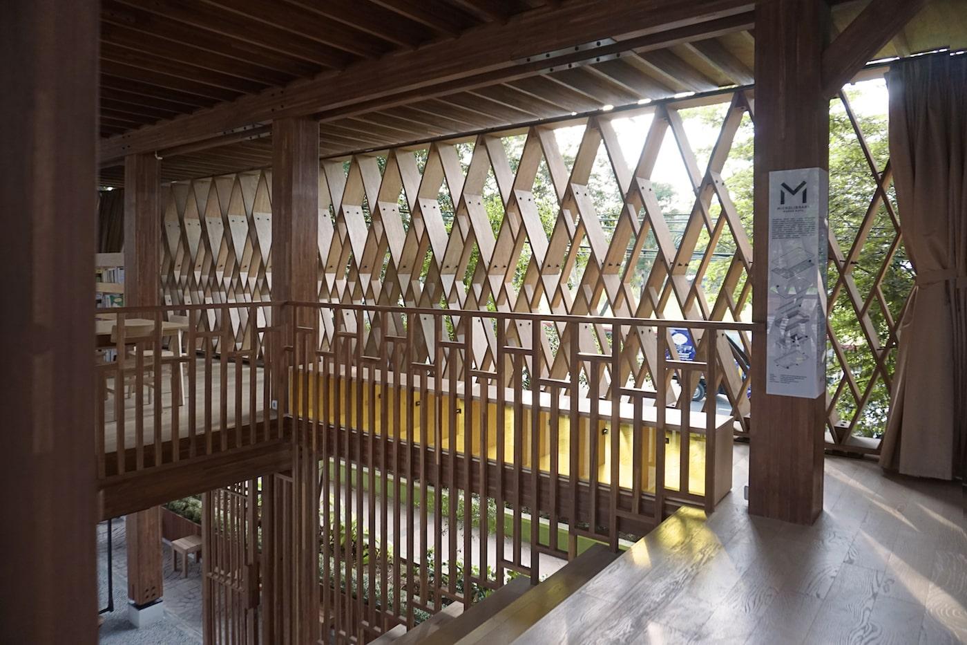 Timber balustrades next to timber brise soliel