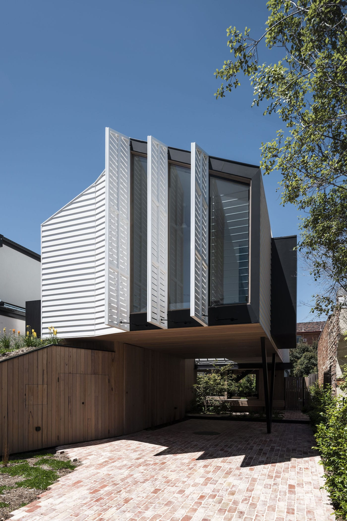 Eco friendly home with mechanical shutters