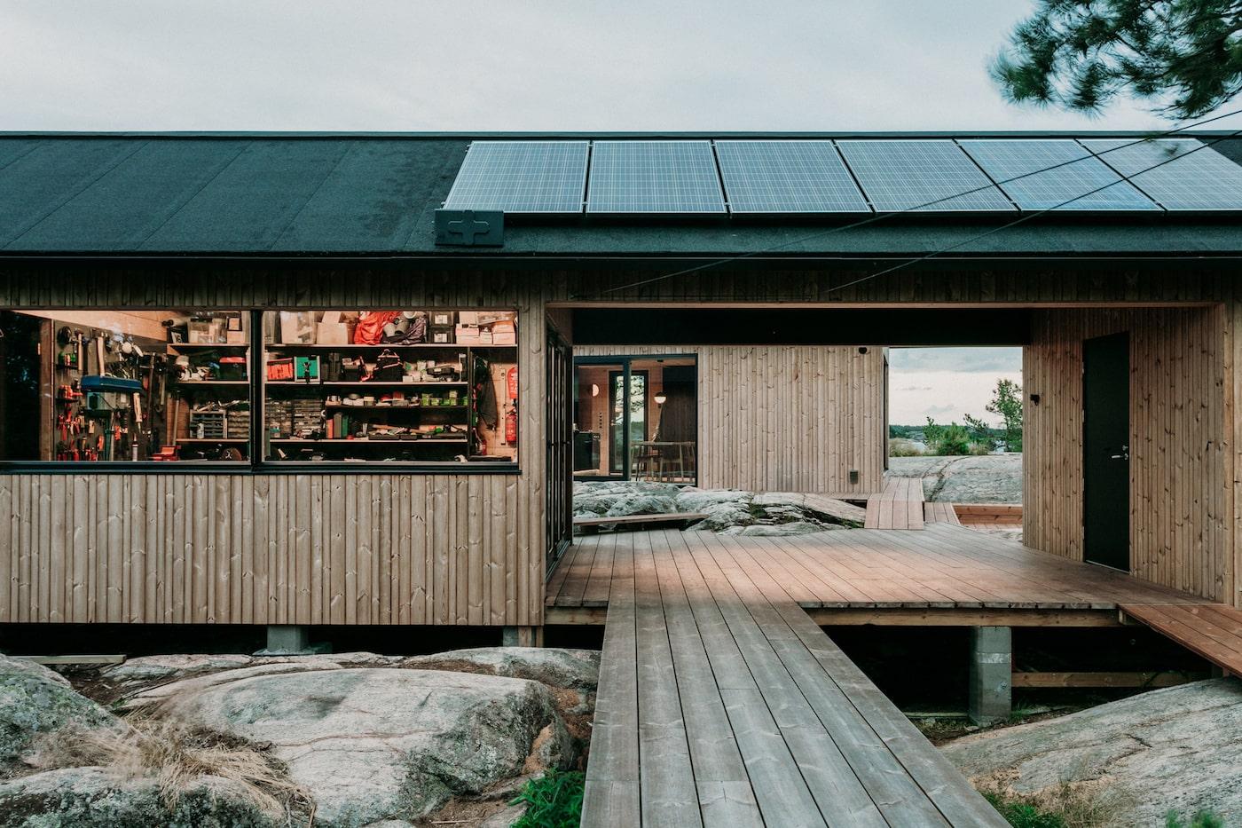 View through workshop cabin