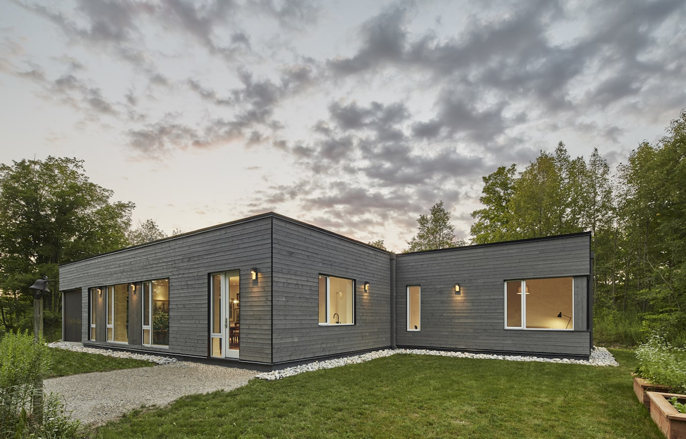Timber clad sustainable house