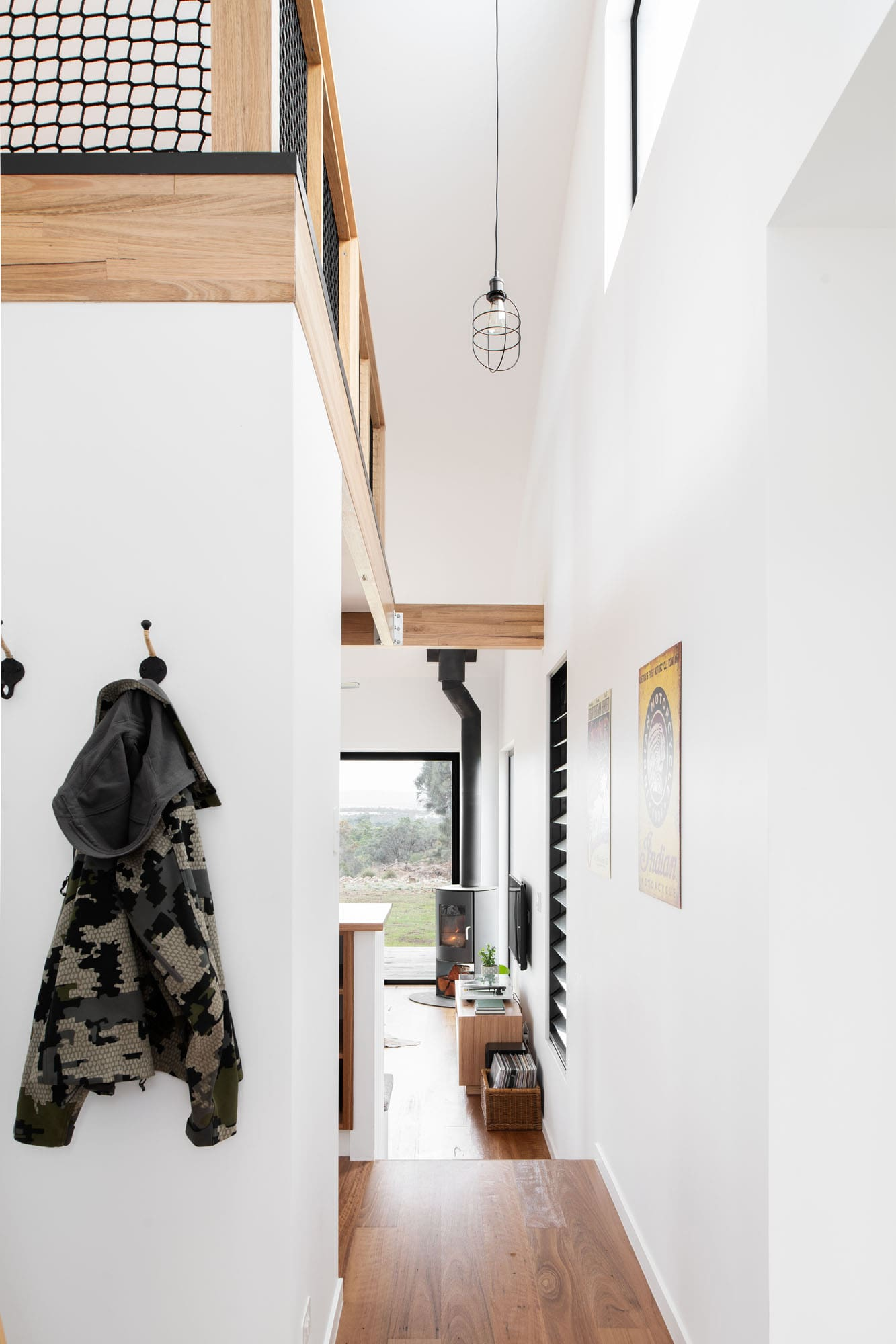 Hallway in sustainable house