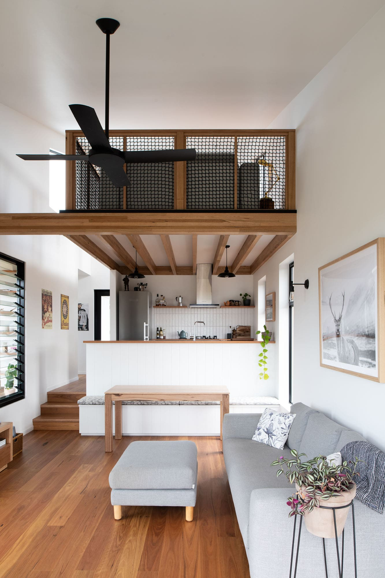 Loungeroom of off-grid home