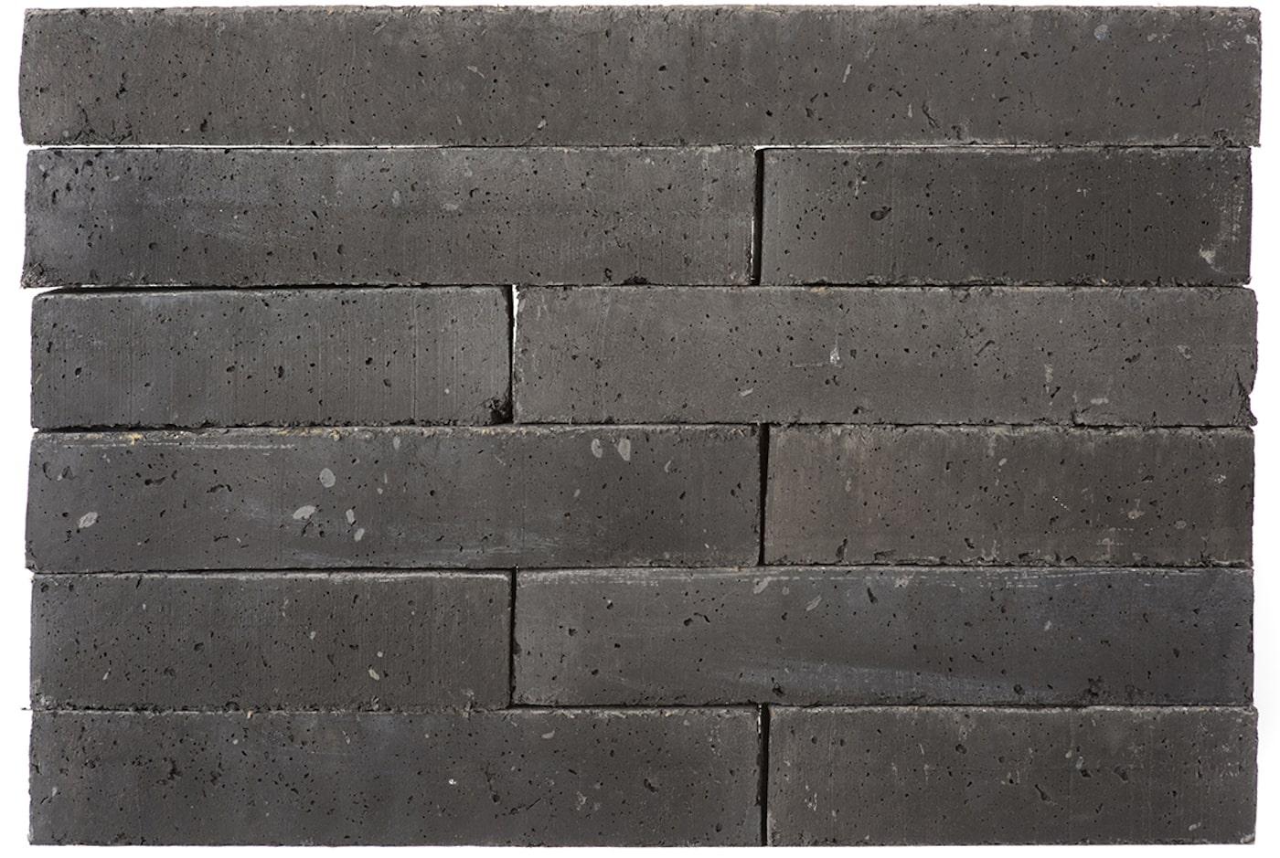 Obsidian coloured sustainable masonry bricks
