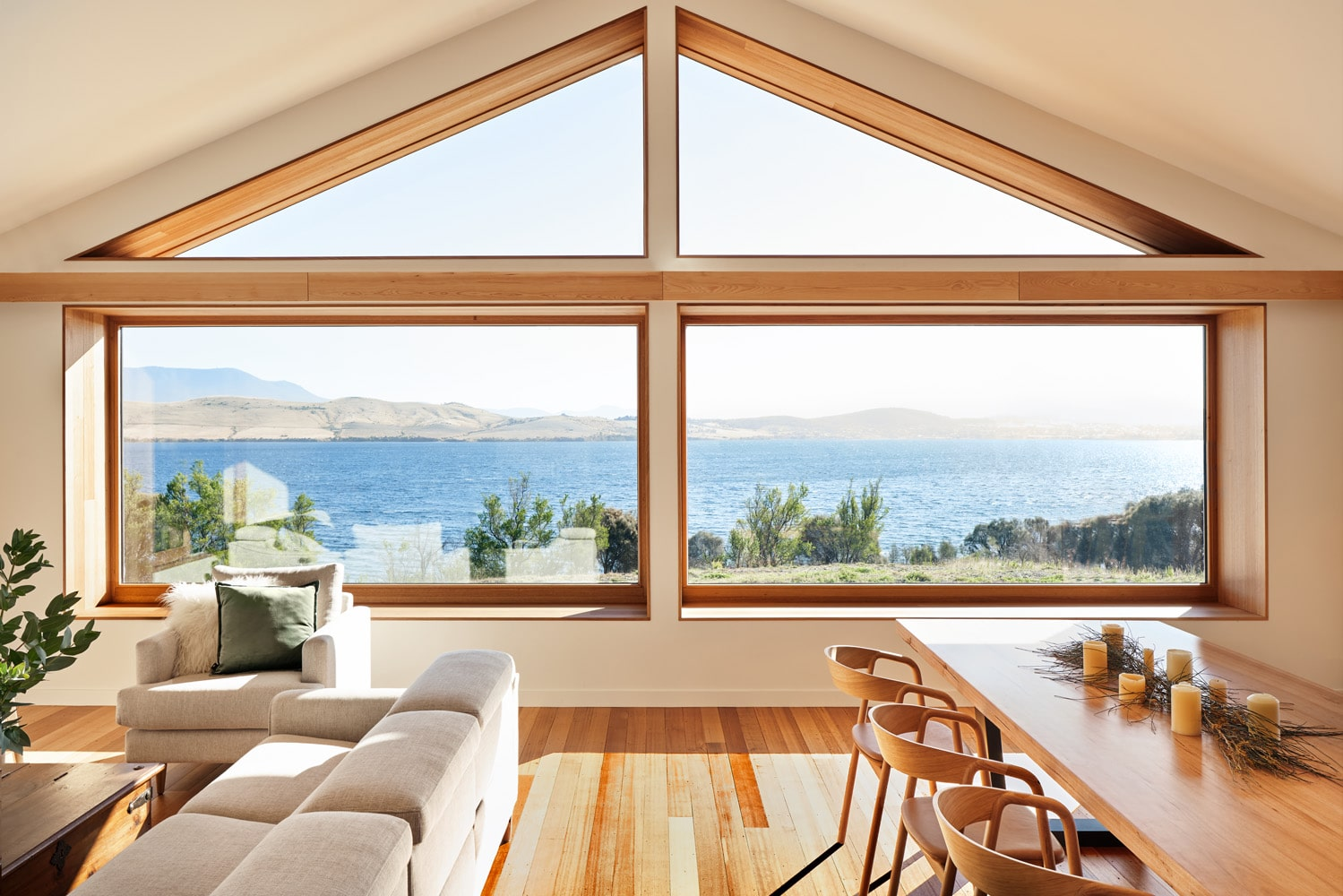 Sustainable home with timber floors
