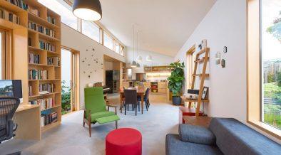 Interior of loungeroom looking towards kitchen