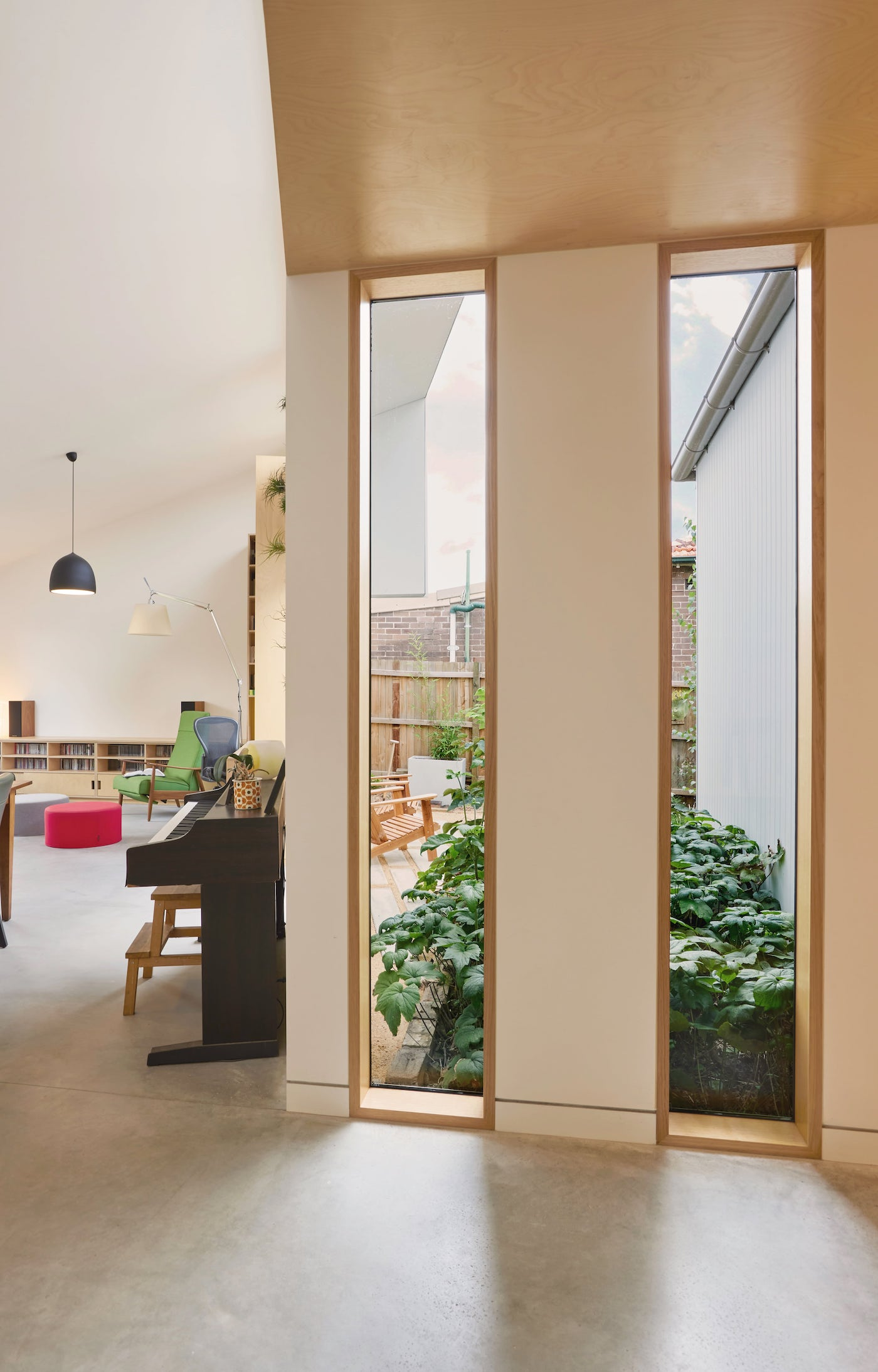 Large windows flood this home with natural light