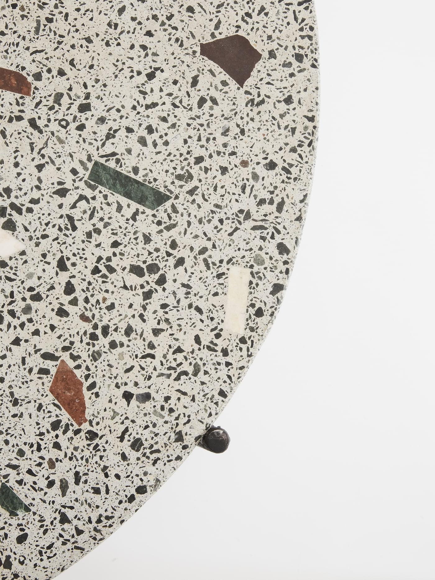 Close up of terrazzo concrete