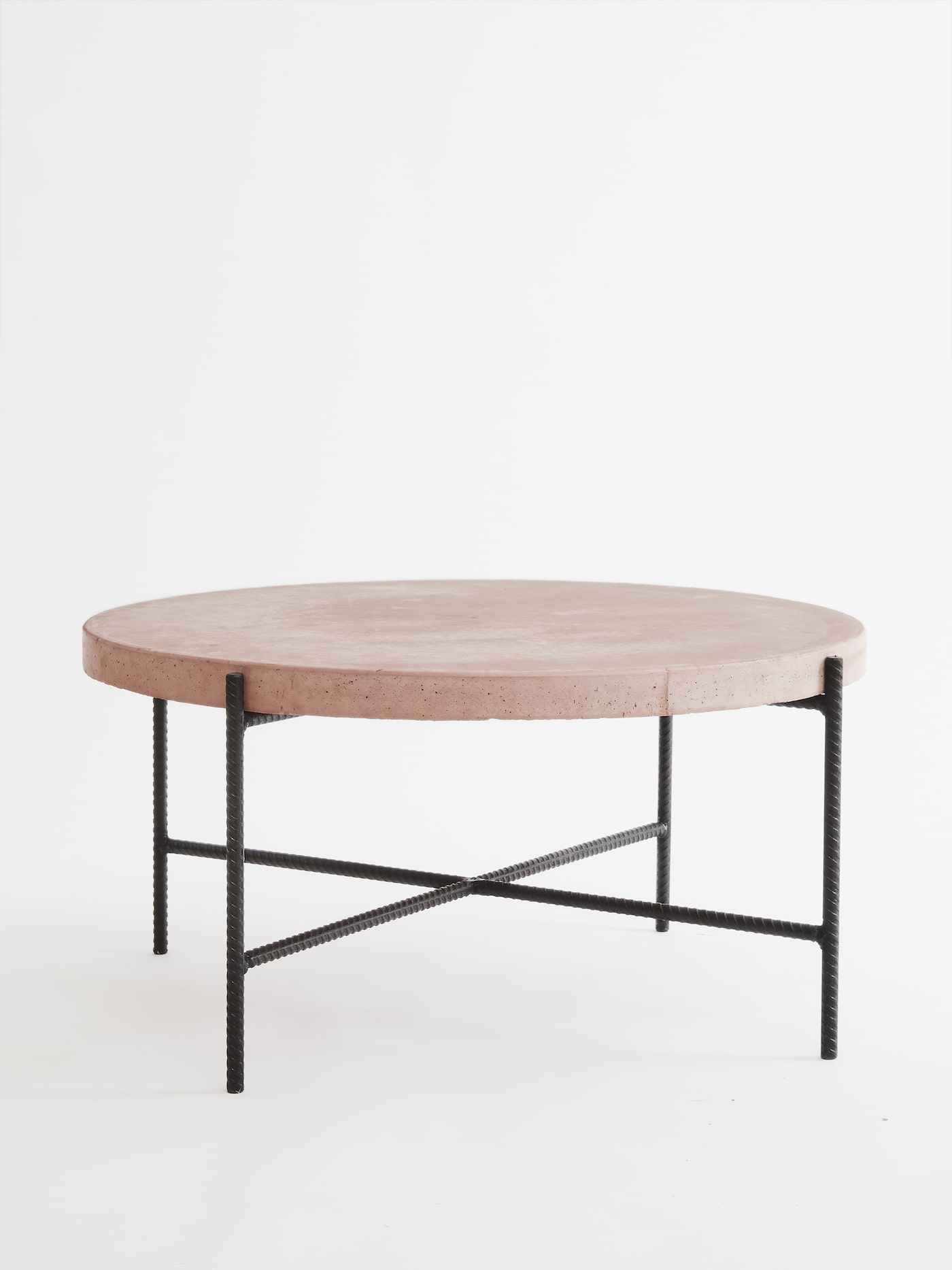 Over Pour coffee table in pink