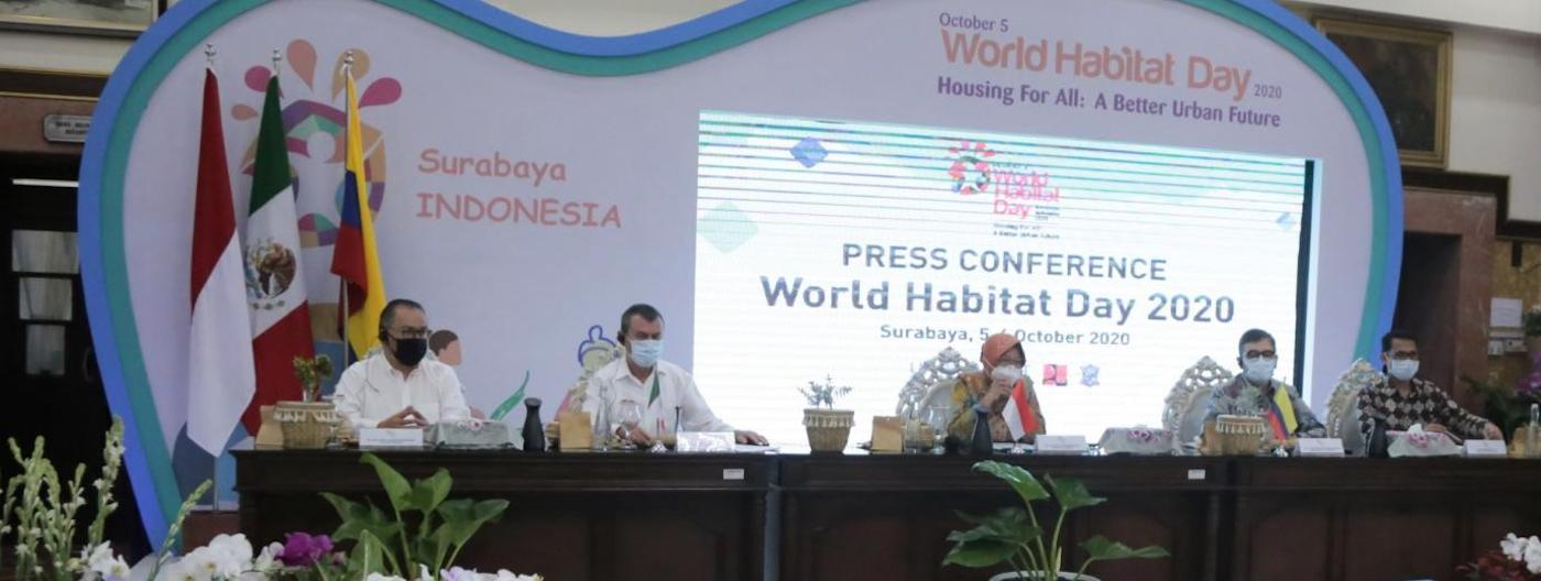 Speakers at World Habitat Day conference